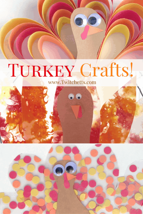 Pick from one of these 3 Turkey Crafts for kids! All three are fun and easy Thanksgiving crafts to do this holiday season.