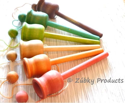Colored Wooden Toys // Zubky