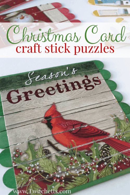 Throw a few of these Christmas Card Puzzles into your bag for a boredom buster to pull out anywhere!