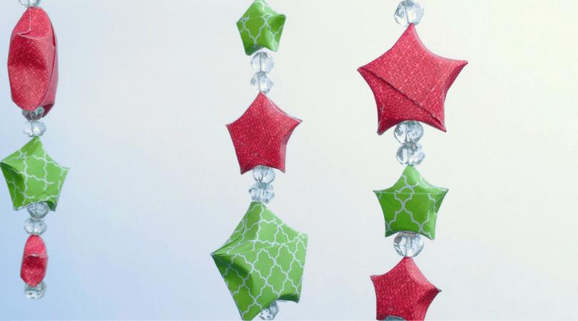 DiY Paper Star Ornaments