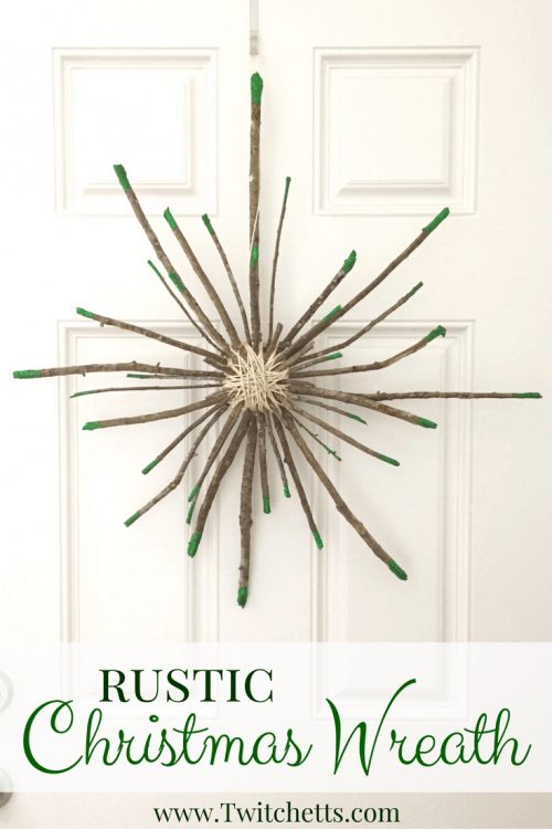 Rustic Christmas Decor is so much fun to create! Bring the natural look inside while decorating for Christmas with this beautiful Rustic Christmas Wreath!