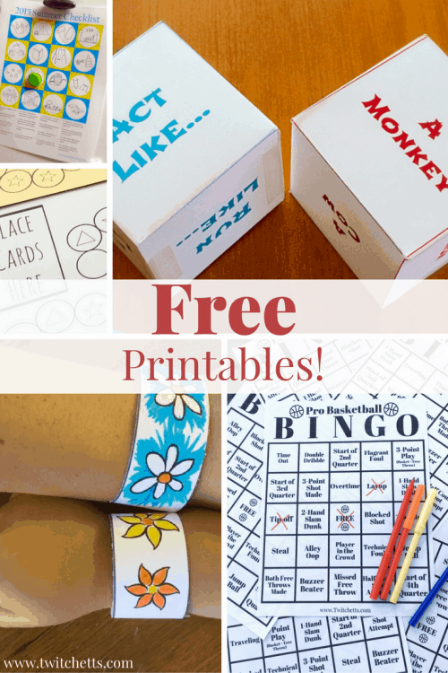 Free printables. An ever growing list of free printables for kids and free printables for the home. From activity dice to meal planners. Great preschool printables.