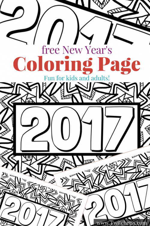 New Year 39 s Eve with Kids A Coloring Page and Activity