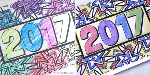 Grab this fun 2017 New Year's Eve Coloring Page to entertain your kids! This free printable is a great New Year's Eve kids activity.