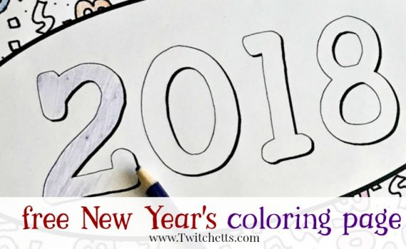 Grab this fun 2018 New Year's Eve Coloring Page to entertain your kids! This free printable is a great New Year's Eve kids activity.