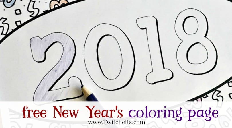 New Year's Eve with Kids – A Coloring Page and Activity Ideas