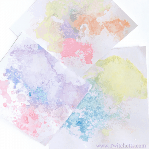 Colored Salt Snow Art - Winter Crafts for Kids a fun Process art Project for kids of all ages!