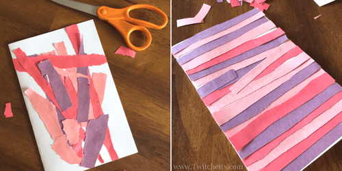 Construction Paper Craft for Kids Scissor Practice Valentines – Construction Paper Valentine Cards