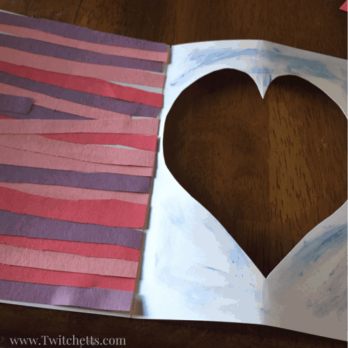 This is a fun construction paper craft to do for Valentine's Day! These cute Valentines Day cards are fun to make and is perfect scissor practice for younger children!