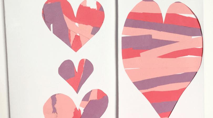 Construction Paper Craft for Kids ~ Scissor Practice Valentines