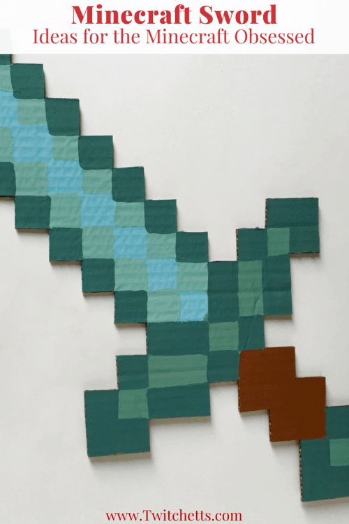 The Minecraft Sword. DIY, Party Ideas, and Bedroom Decor.