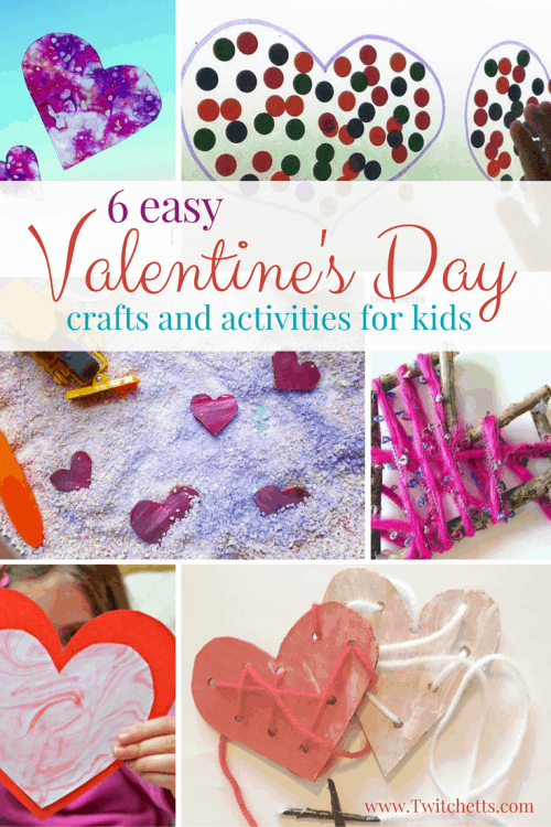 Check out all 6 of these easy Valentine's Day Activities for kids. From Valentines Day crafts to fine motor activities you will find something for your little one to do for the holiday.