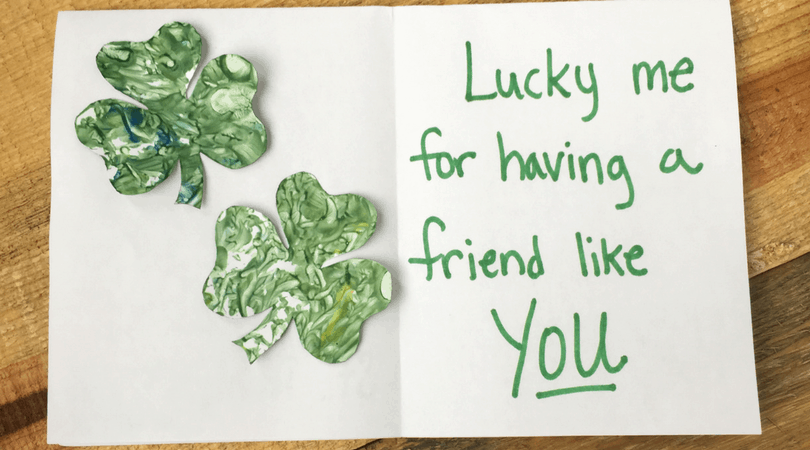 Musical Shamrock Craft ~ St Patrick's Day Art Projects for Kids