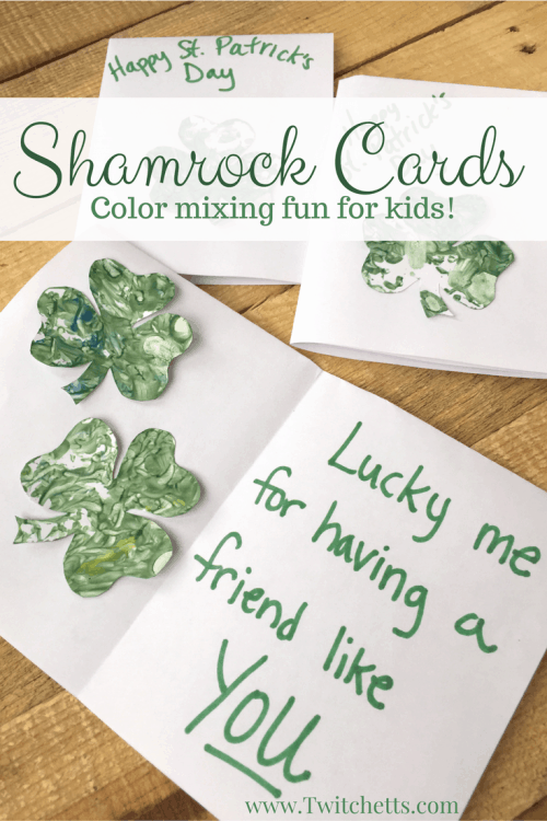 This Shamrock craft is a fun addition to your St Patrick's Day Crafts for Kids. Shake to some music and the result will be this beautiful St Patrick's day art. A fun addition to our paper crafts for kids collection.