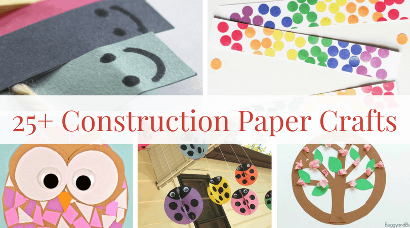 construction paper crafts for kids a roundup of paper craft inspiration. Black Bedroom Furniture Sets. Home Design Ideas