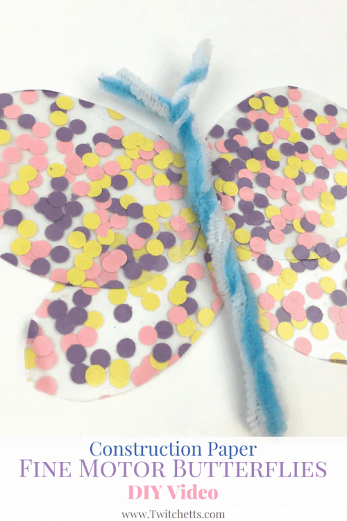 These construction paper butterflies are a great fine motor activity for your kiddos.