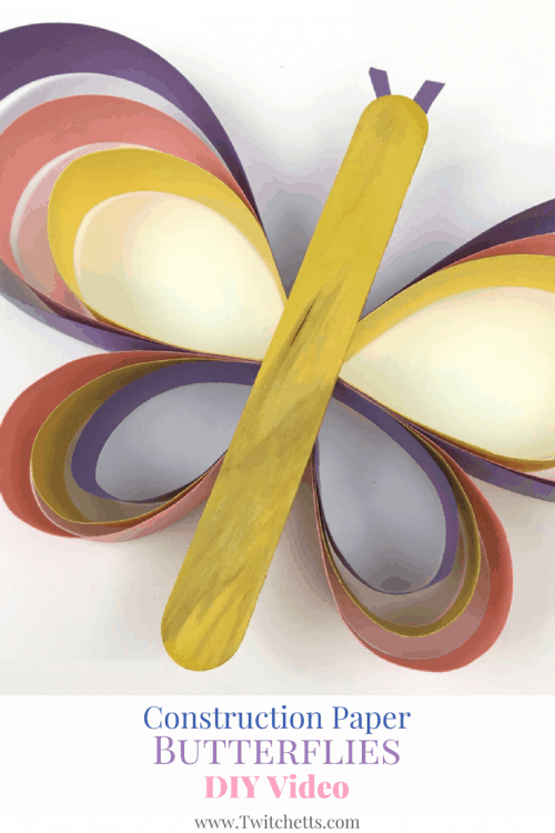 This fun paper butterfly is a great craft for kids. We love construction paper crafts and this one is so much fun to create!