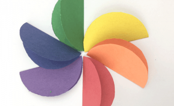 Construction Paper Crafts For Kids Rainbow Flowers