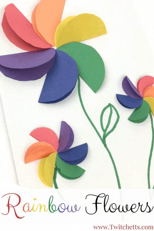 These Construction Paper Rainbow Flowers Are Perfect Diy For Your Kids To Make