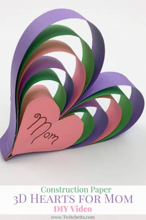 Paper Craft Ideas For Kids Videos Part - 43: Create This Fun Construction Paper Craft For Mom This Year! This 3d Paper  Heart Craft
