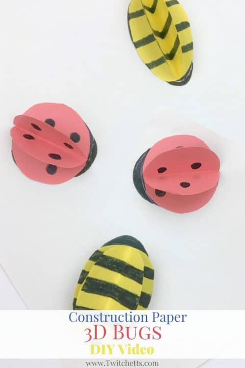 Have fun with these paper lady bugs and bees! These make great construction paper crafts for kids!