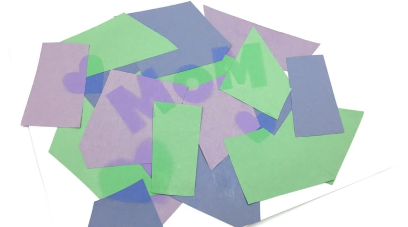 Construction Paper Crafts for Kids ~ Sun Faded Art