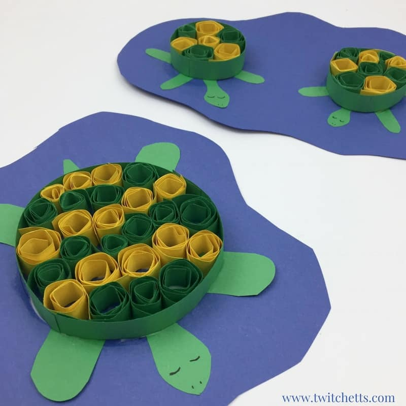 quilling turtle craft construction paper crafts for kids 5 twitchetts. Black Bedroom Furniture Sets. Home Design Ideas