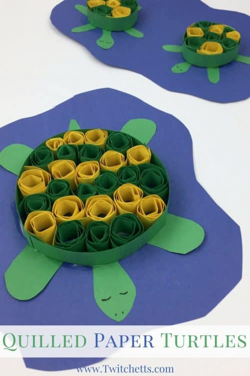 Create adorable turtle crafts with this paper quilling technique for kids. This construction paper turtle is ready for your under the sea fun!