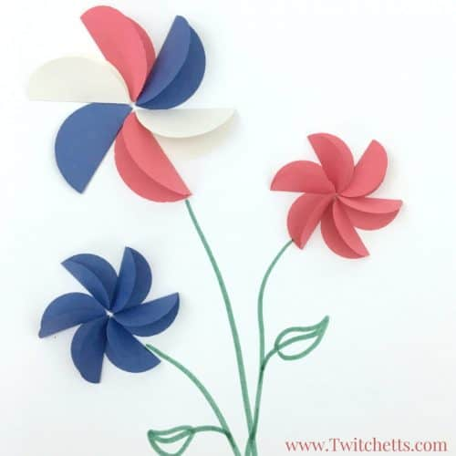 how to make a 3d flower out of construction paper