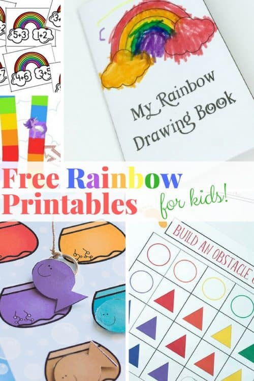 these free rainbow printables are perfect for a lazy afternoon or for a quick lesson in counting reading or color recognition - Printables Kids