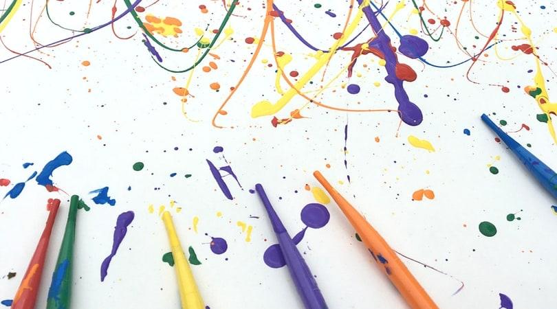 Splatter Paint ~ Process Art for Kids