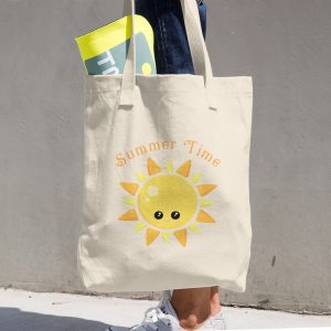 Summer Time Cotton Tote Bag