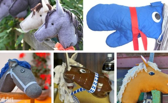 Find the perfect stick horse DIY idea! Whether you're going for a stick horse made from dollar store supplies to breaking out the sewing machine, there is a hobby horse tutorial for you.