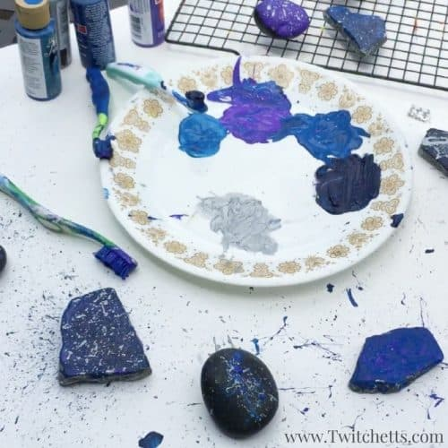 These space rocks are out of this world! Create galaxy rocks with ease. So simple even a preschooler can create these amazing outer space crafts!