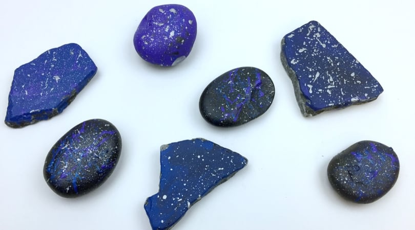 Space Rocks ~ Rock Painting Ideas for Kids