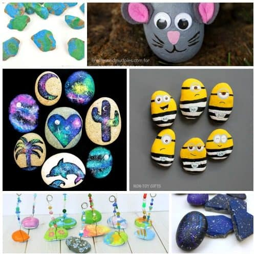 Simple Rock Painting Ideas for Kids ~ Over 25 stone painting techniques