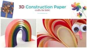 3D Construction paper crafts. Make 3d art with paper. From animals to shapes, take your papercraft to the next level by making them three dimensional.