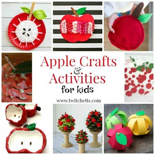 Apple themed crafts and activities for preschooler and kindergarteners. From apple crafts for kids to fine motor and fun activities for young children.