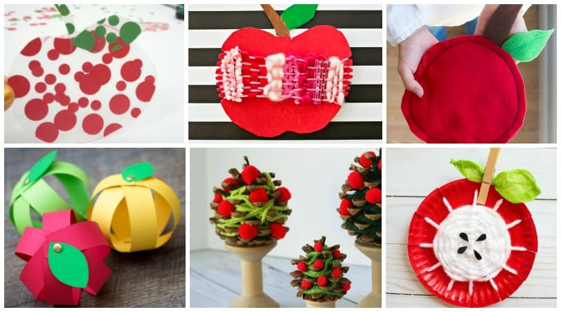 35 easy apple crafts your kids will absolutely love to make