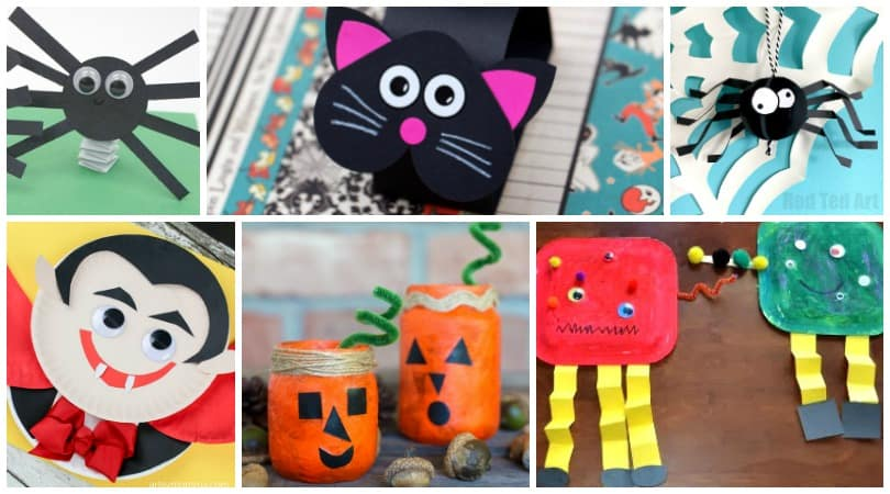 Halloween Construction Paper Crafts ~ 20 Cute and Creepy Crafts ...