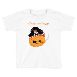 Trick Or Treat Pumpkin Pirate Kids T-Shirt