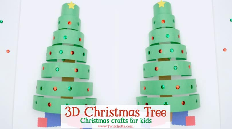 A Fun 3D Paper Christmas Tree That Is Perfect For Preschoolers And Kindergarteners This