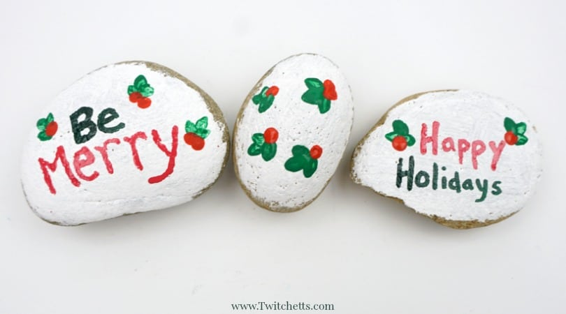 Christmas Painted Rocks ~ Stone Painting for Kids