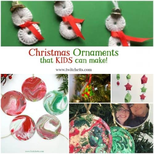 Christmas ornaments that kids can make. A collection of holiday gifts that are easy and ready for kids to create and give this season.