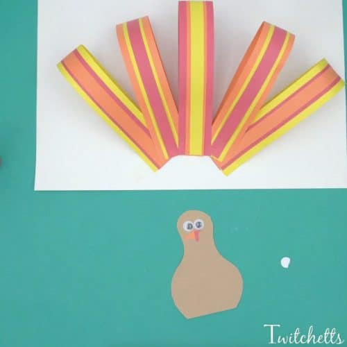 Easy paper turkey thanksgiving crafts for kids twitchetts for Easy crafts for kids with construction paper