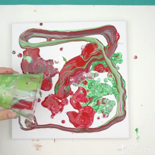 Poured Christmas Ornaments Pour Painting For Kids