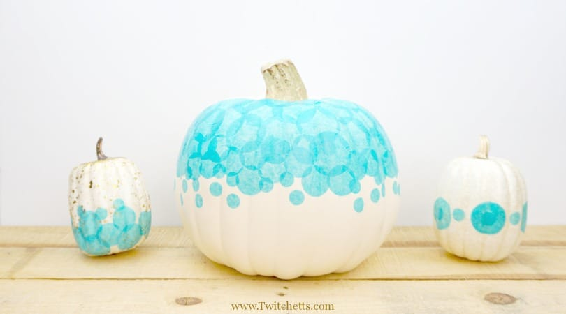 Teal Tissue Paper Pumpkin ~ Teal Pumpkin Ideas