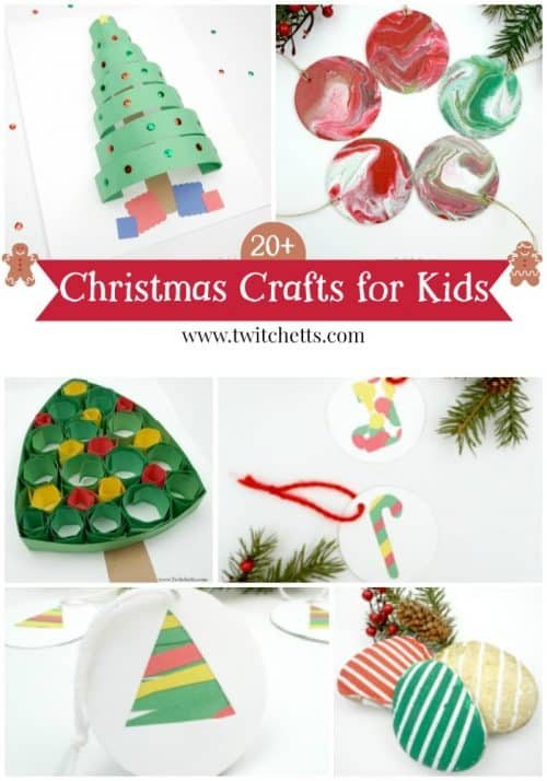 Get inspired with these Christmas crafts for kid. Over 20 Holiday kids crafts perfect for a gift or a classroom project.