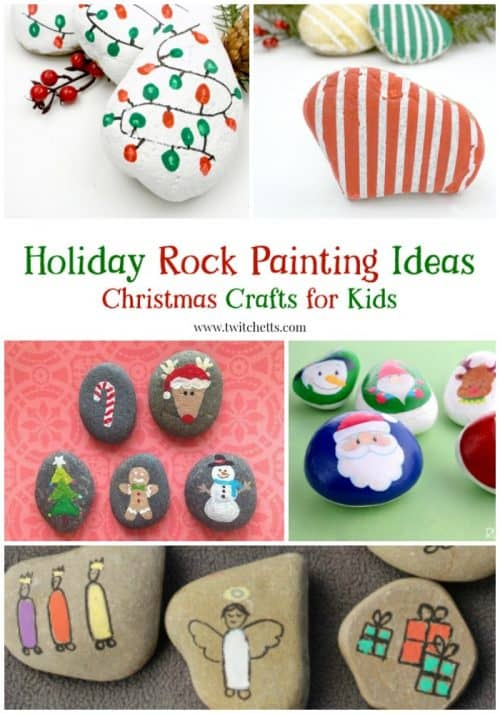 Create beautiful Christmas rocks with these fun easy stone painting techniques.