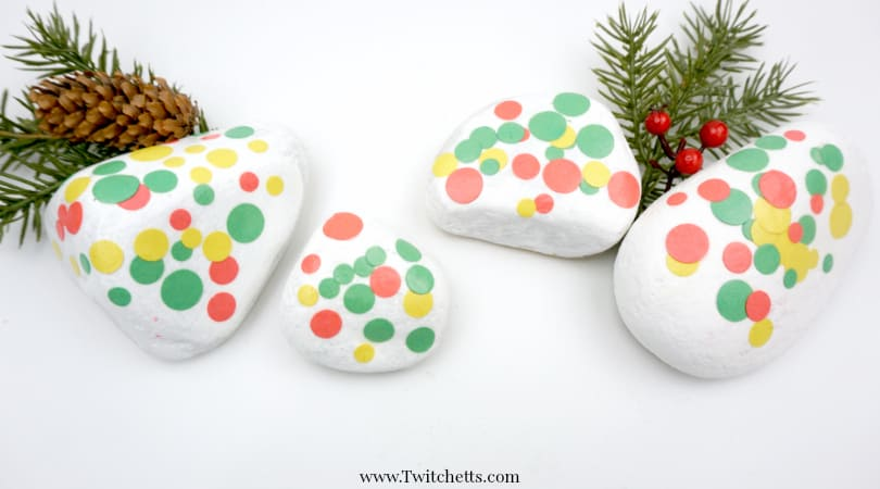 Construction Paper Dotted Rocks ~ Easy Rock Decorating